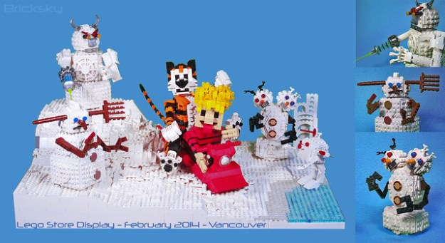 Lego Store Display - 2014 February - C&H + Snow Goons