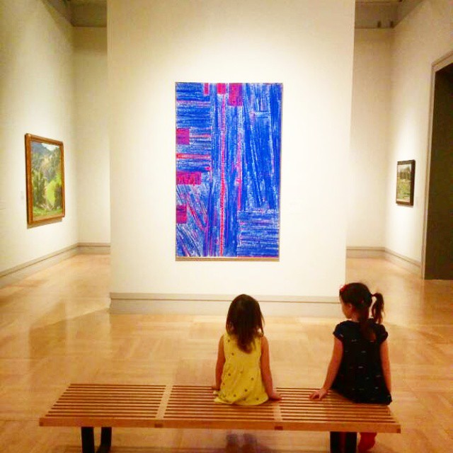One of the biggest perks of homeschooling is being able to enjoy all the great (free!) things Los Angeles has to offer when everyone else is in school... No crowds at the art museum today! Hooray! #homeschool  #creativekids
