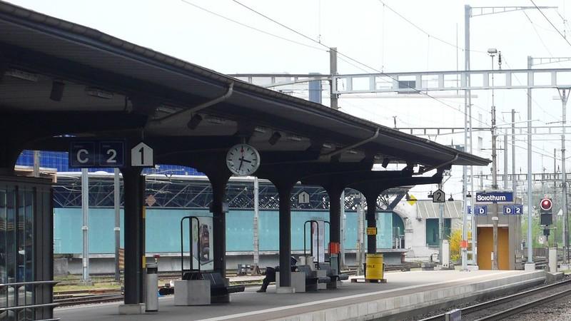 Platform 1 Solothurn station