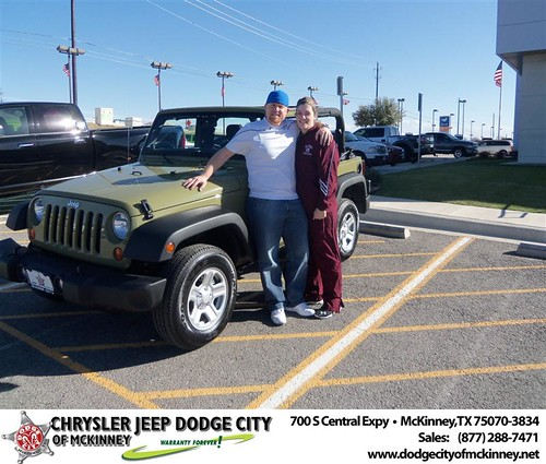 Happy Anniversary to Jennifer G Jordan on your 2013 #Jeep #Wrangler from Perry Callan and everyone at Dodge City of McKinney! #Anniversary by Dodge City McKinney Texas