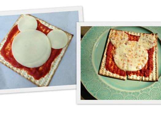 Matzah-Rella Mickey Mouse Pizza!