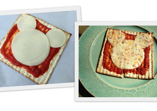 Matzah-Rella Mickey Mouse Pizza!
