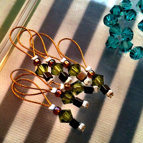 Been making stitch markers tonight