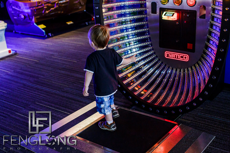 Playing skee ball