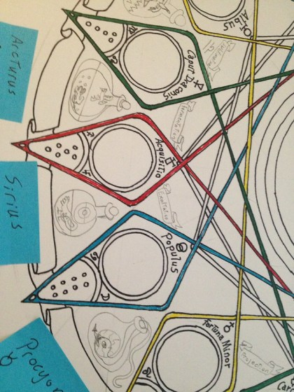 Geomancy mandala continued.