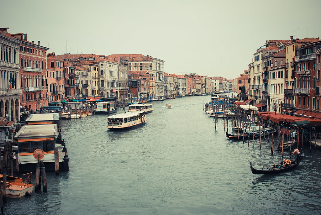 Venice, Rialto Bridge, Grand Canal, Gondola
