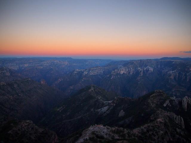 Barranca del Cobre Sunset