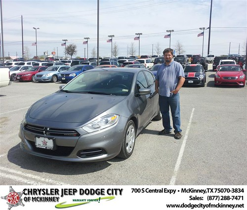 #HappyAnniversary to Jan Pugh on your 2013 #Dodge #Dart from Brent Villarreal  at Dodge City of McKinney! by Dodge City McKinney Texas
