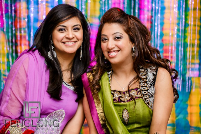 Guests at mehndi ceremony
