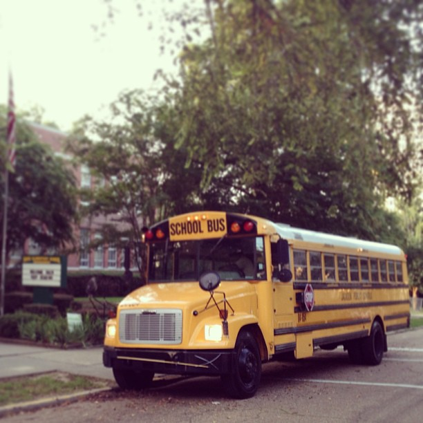 first bus of the school year. got a little teary-eyed when I saw it. so many people working hard to make good things happen for these precious kids. I'm incredibly blessed to be able to wake up every day & be a tiny part of it. #sappy #oneday