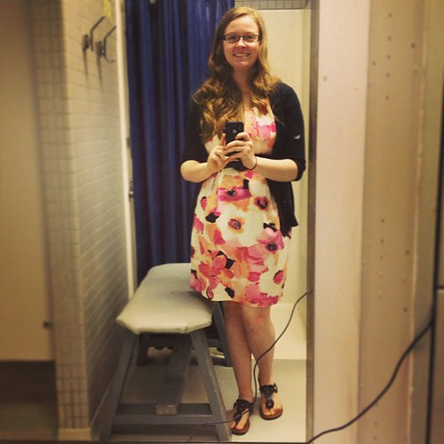 Today's #ootd features awkward work bathroom and the dress I wore to @kpieknik's wedding :)