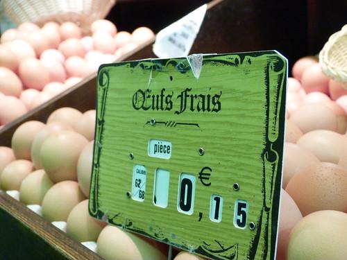 Oeufs frais 15 centimes