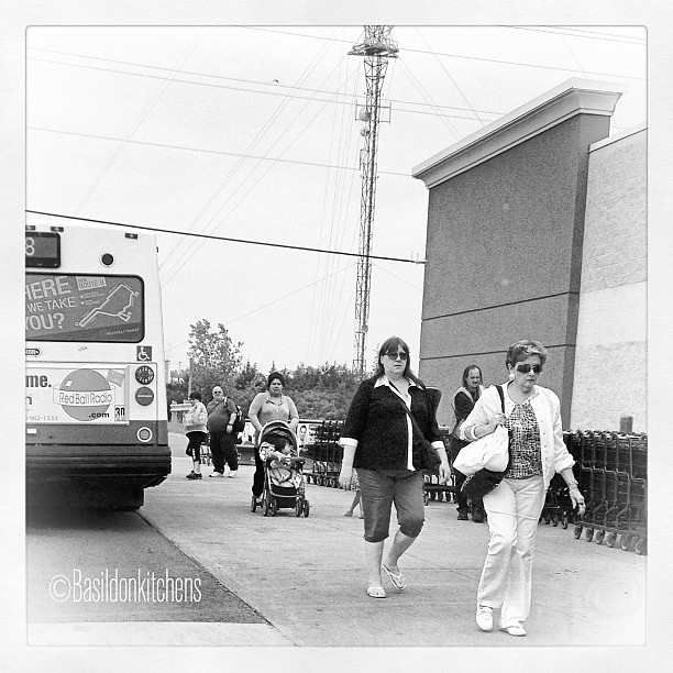 July 2 - people {@ the bus stop} #photoaday #people #busstop #transit #titlefx