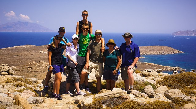 At the top of Mt. Kythnos, Delos