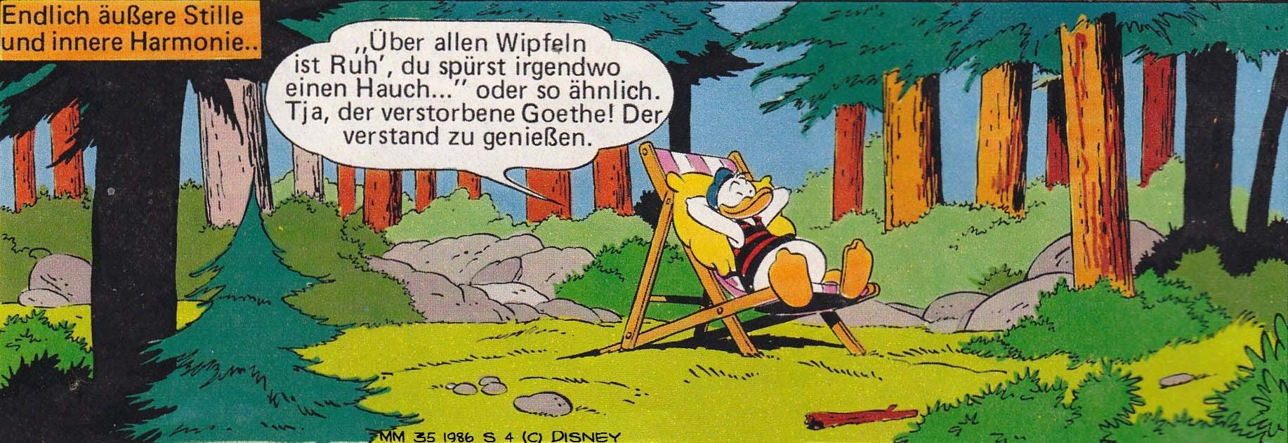 Carl Barks, Dr. Erika Fuchs, Donald Duck in Ruhelos, Micky Maus 35, 1986