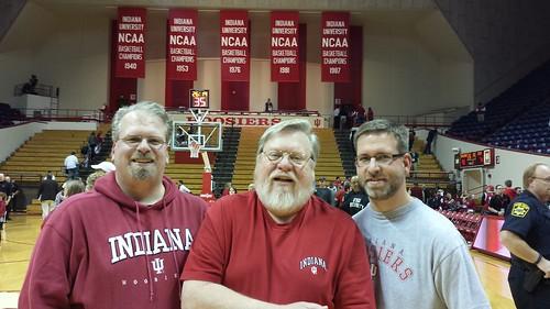Dad and Sons at IU vs Stony Brook