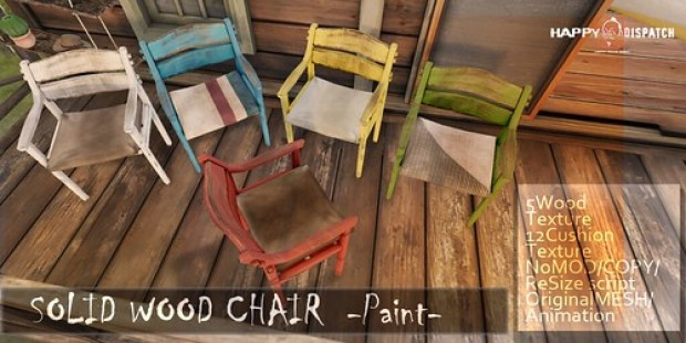 HD SOLID WOOD CHAIR-Paint-