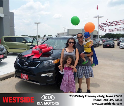 Thank you to Keiji Leon on the 2012 Kia Sorento from Gilbert Guzman and everyone at Westside Kia! by Westside KIA