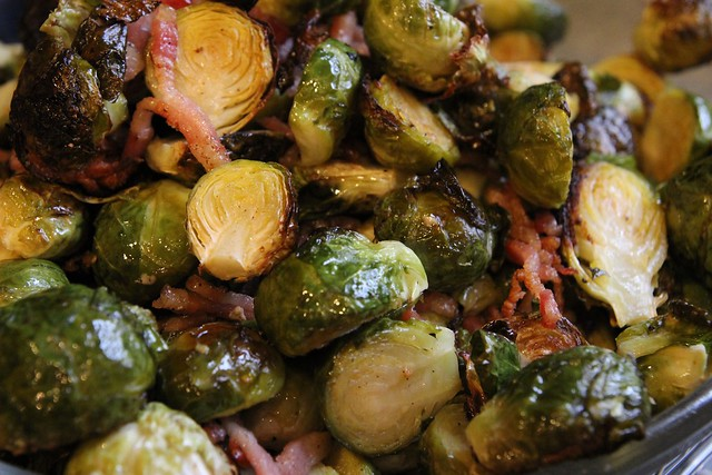 thankful + bacon brussels sprouts
