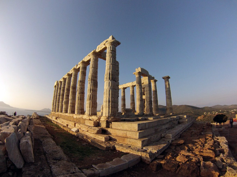 Vista del Templo de Poseidón Cabo Sounion Cabo Sounion y el Templo de Poseidón 12174004294 8aa58791b6 c