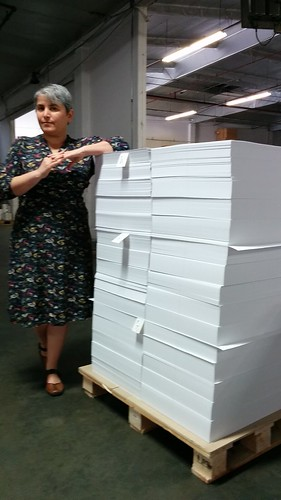 Kim With Signature Pages for her Novel
