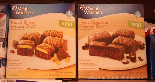 Weight Watchers Peanut Butter and Triple Chocolate Brownie Bliss