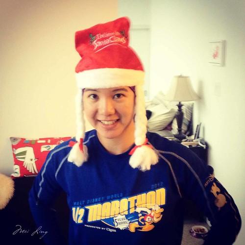 wearing my I believe in Santa Claus hat!