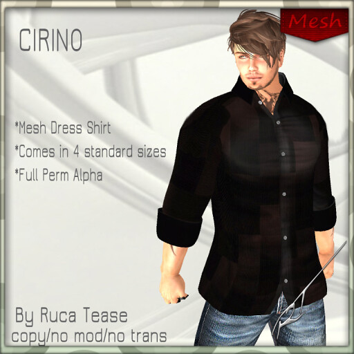 CIRINOmeshdressshirt
