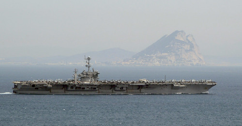 USS Harry S. Truman passes the Rock of Gibraltar. by Official U.S. Navy Imagery