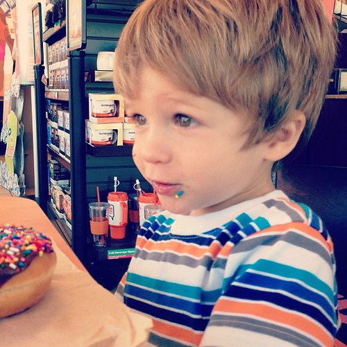 Happy Monday morning #donutdate with my favorite 2 year old.