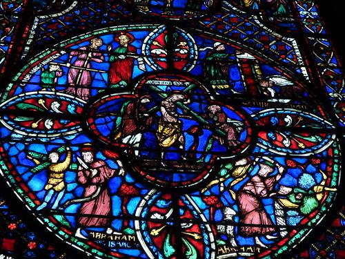 Abraham sacrificing Isaac, St. Etienne de Bourges