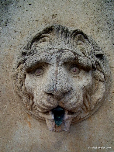 Lion head in Tourbes, France