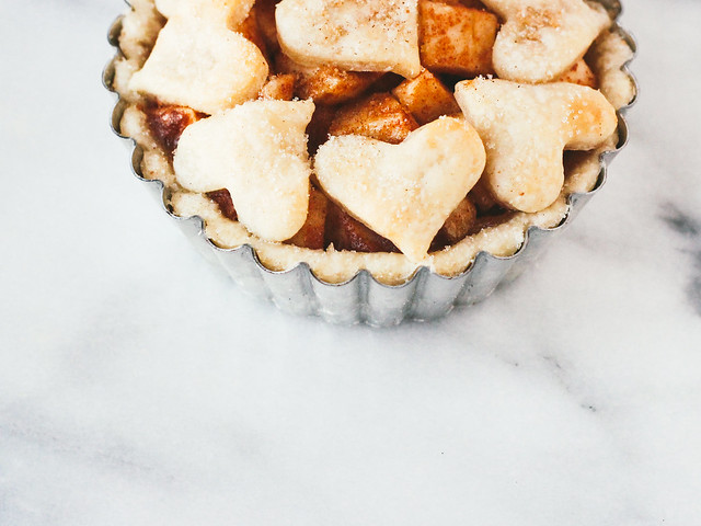 Single serving deep dish apple pie | for Thom, with love