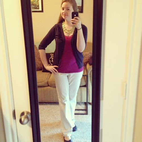 New necklace with jewel tones for this #ootd!