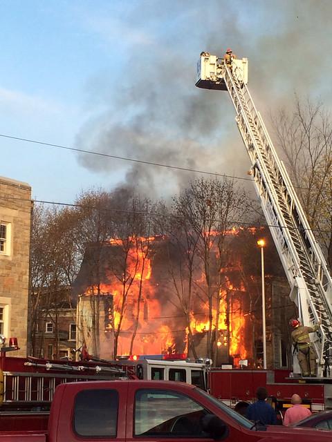 Huge fire in my street in Glens Falls, NY