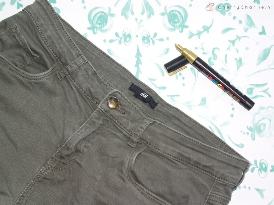 Supersnelle DIY: Custom shorts met textielstiften • CherryCharlie.nl
