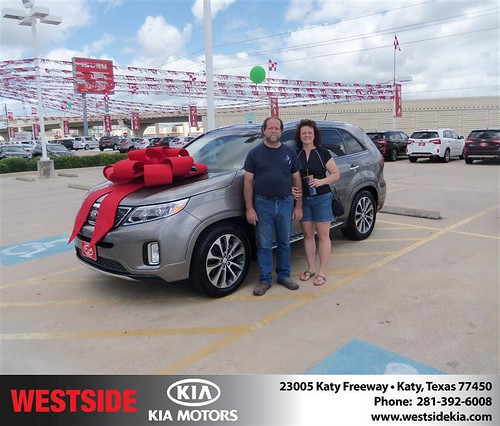 Westside Kia would like to say Congratulations to Greg Wiemken on the 2014 Kia Sorento from Damon Clayton by Westside KIA