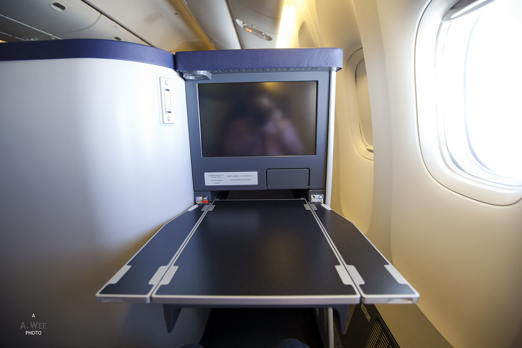 Tray Table in the Business Class