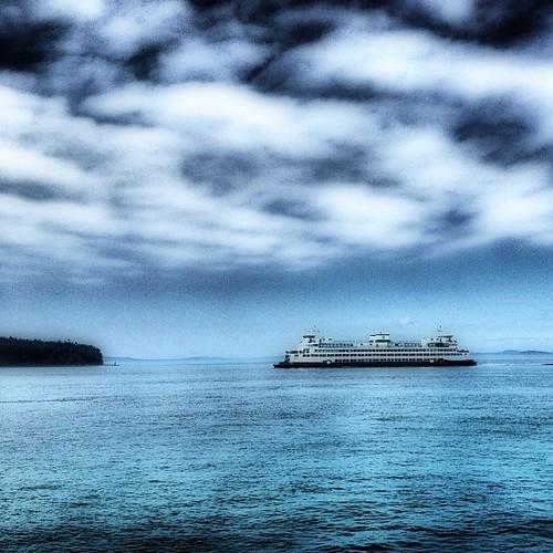 Washington State Ferry near   Anacortis by @MySoDotCom
