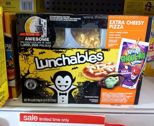 Lunchables Extra Cheesy Pizza with Kool-Aid Ghoul-Aid