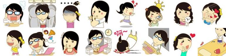 03_WeChat「小資女」免費動態貼圖全球限定於台灣市場獨家推出,完全表達OL 的上班心聲!