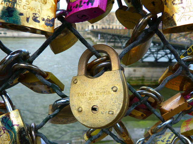 Paris Love Locks, Pont des Arts