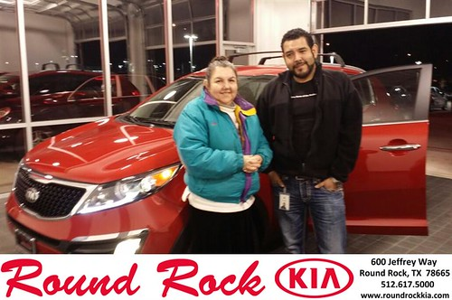 Thank you to Irma Murphy on your new 2014 #Kia #Sportage from Fernando Fernandez and everyone at Round Rock Kia! #NewCar by RoundRockKia