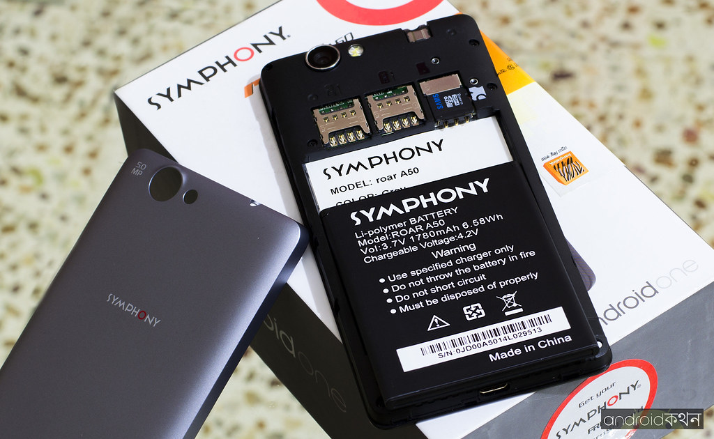 symphony roar a50 android one hands-on review