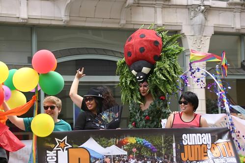 """""""Queen"""" wearing ladybug hat"""