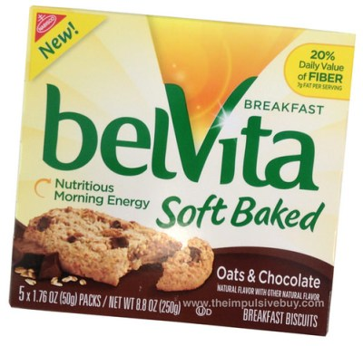 Nabisco Oats & Chocolate belVita Soft Baked Breakfast Biscuits
