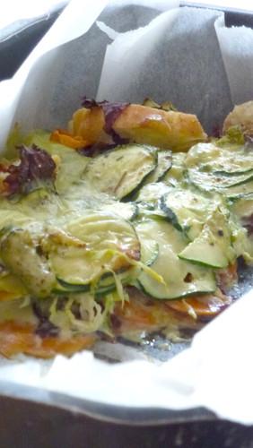 Bread & vegetable cake