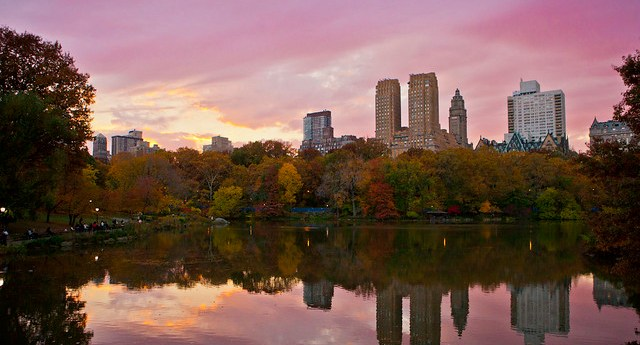 Sunset in Central Park, New York City