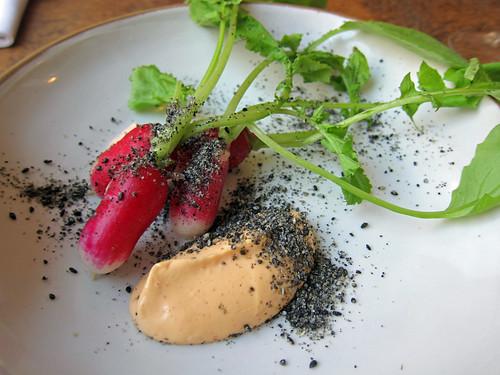 Radishes, Black Sesame and Gochuchang