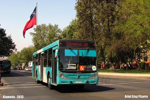 Bus Transantiago Alameda